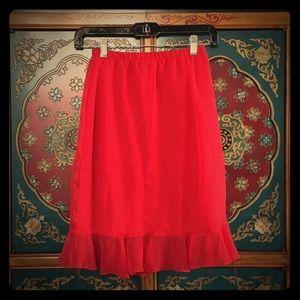Chiffon Skirt With Ruffle Trim